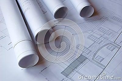 Blueprints of a house