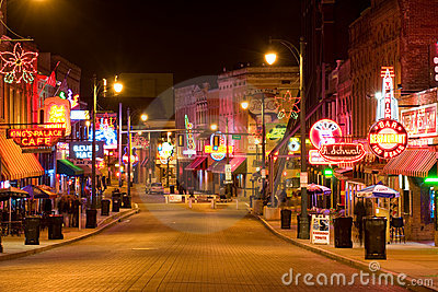 Blues clubs in Memphis Editorial Stock Image