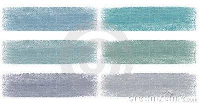 Blues faded grunge banner set