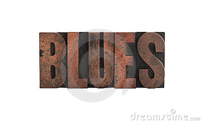 Blues in letterpress wood type