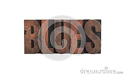 Blues in letterpress wood type