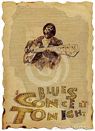 Free Blues Man With The Guitar Royalty Free Stock Photography - 24297817