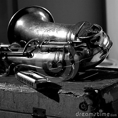 Free Blues Music, Sax And Harmonica Royalty Free Stock Photography - 4364947