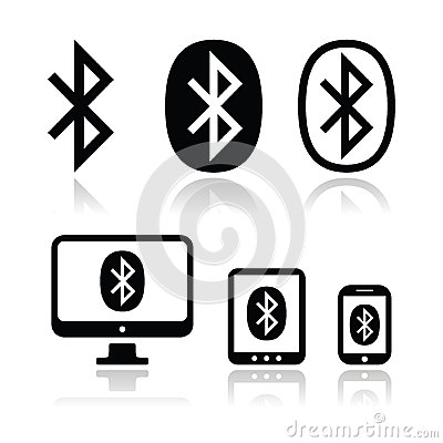 Bluetooth connection vector icons set Editorial Stock Photo