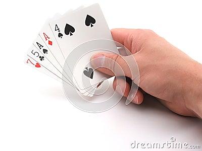 Bluff hand