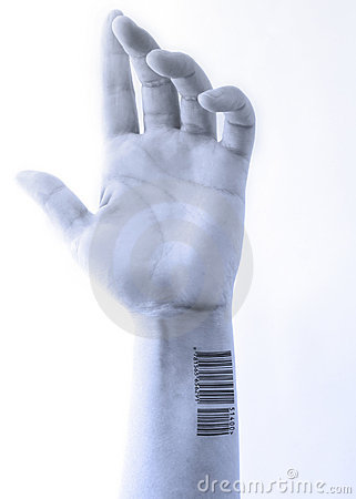 Free Bluish Barcoded Hand Royalty Free Stock Image - 2828226
