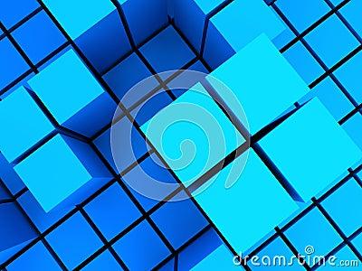 Bluish block structures
