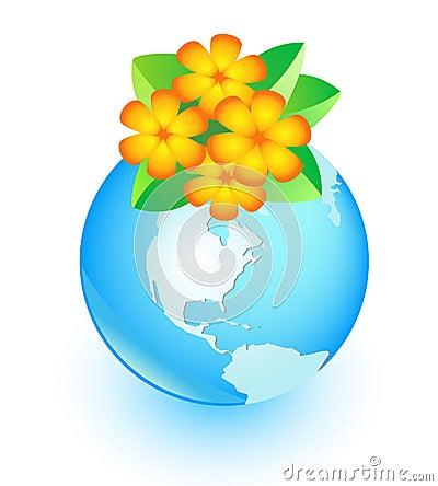 Blume und Erde