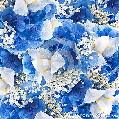 blumen in einem blumenstrau in blauen hydrangeas und in einem wei stockbild bild 26896311. Black Bedroom Furniture Sets. Home Design Ideas