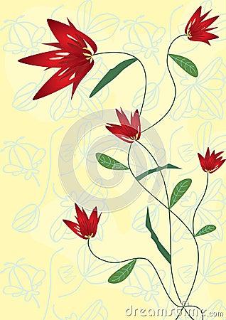 Blumen-Kreuzzeichnung