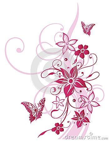 blumen schmetterling sommer rosa lizenzfreies stockfoto bild 33651325. Black Bedroom Furniture Sets. Home Design Ideas