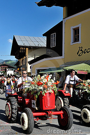 Blumencorso in Kirchberg in Tirol Editorial Image