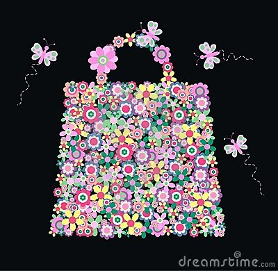 Blumenhandtasche