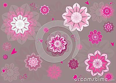 Blumenmuster, nahtloses Vektor-Muster