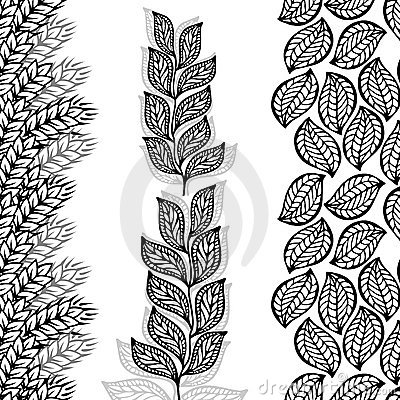 Blumenränder, nahtlos durch Vertikale