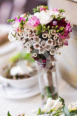 Blumenstrauß der Maiglöckchen