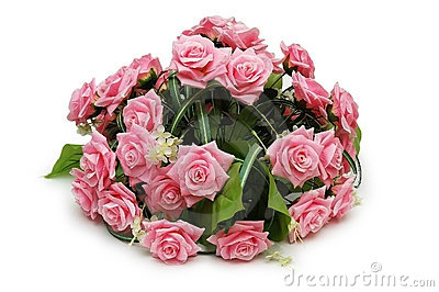 Blumenstrauß der Rosen getrennt