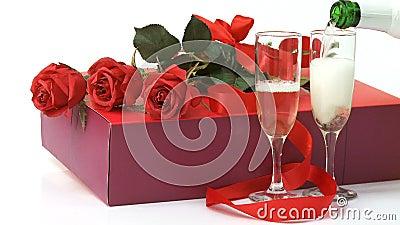 Blumenstrauß von Rosen im Hintergrund