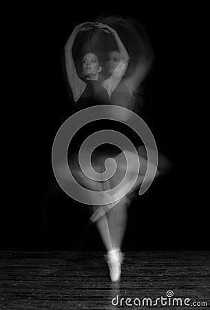 Blur of Ballerina Spinning
