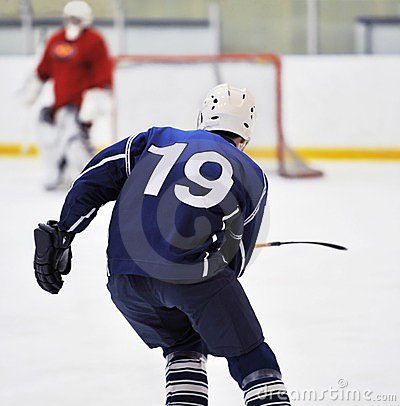 Free Blur Hockey Player S Stock Images - 24005144