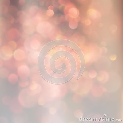Blurred bokeh background orange and beige magical circles abstract out of focus background. EPS 10 Vector Illustration