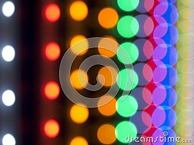 Blurred chain lights