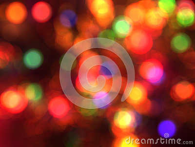 Blurred christmas lights background.