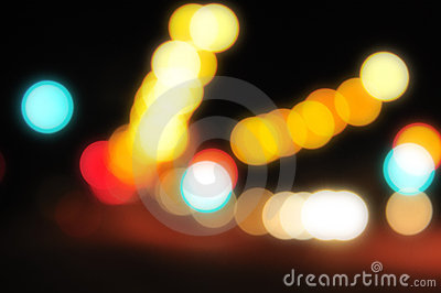 Blurred City Lights 3
