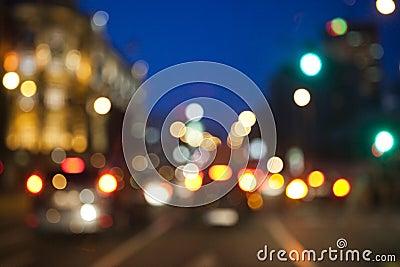 Blurred city lights background