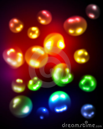 Blurred colored bubbles