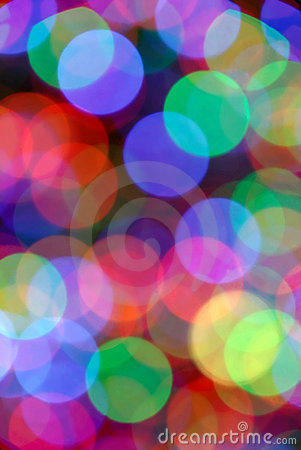 Blurred Colored Light Circles