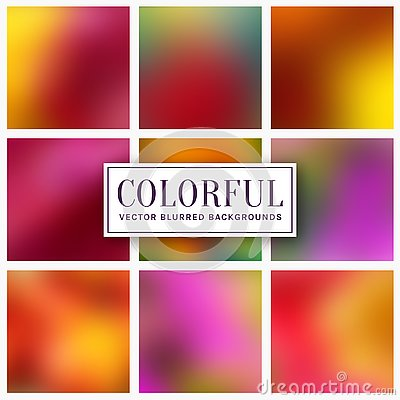 Free Blurred Colorful Backgrounds. Vector Set Stock Photography - 138719852