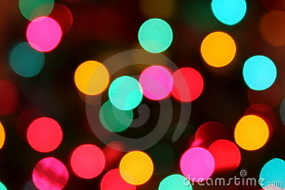 Blurred Colorful Circle Lights
