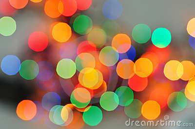 Blurred colourful lights
