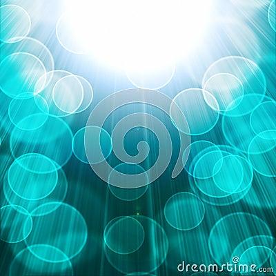 Blurred lights on a Blue
