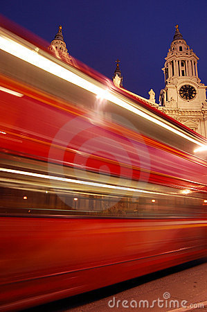 Free Blurred Red London Bus Stock Images - 5041454