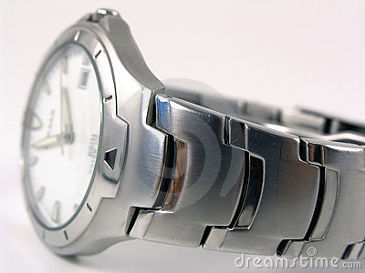 Blurred silver watch