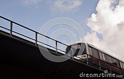 Blurred sky train