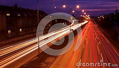 Blurred traffic lights