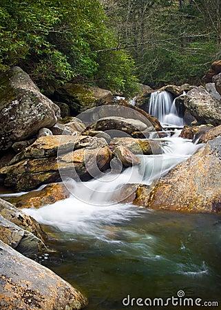 Blurred Waterfalls Nature Landscape in Blue Ridge