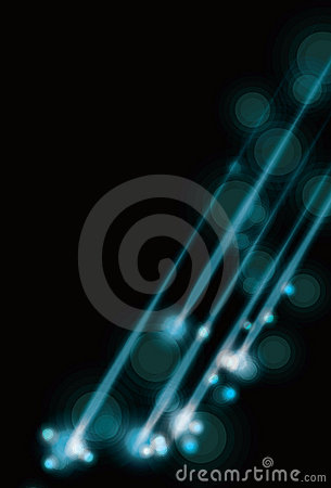 Blurry abstract blue light effect background