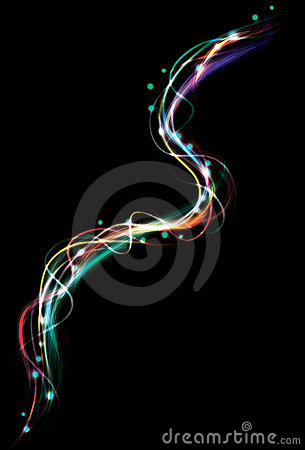 Blurry abstract colorful light effect background