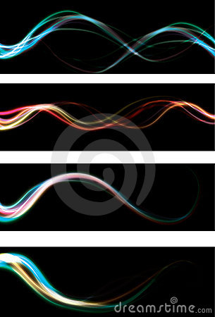 Free Blurry Abstract Neon Light Effect Web Banner Backg Royalty Free Stock Photography - 12923357