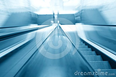 Blurry escalator