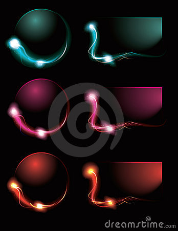 Blurry Glowing Light Effect Buttons Royalty Free Stock Images - Image: 19886179