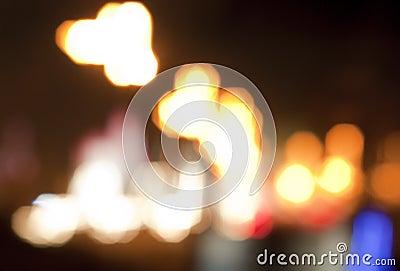 Blurry street lights