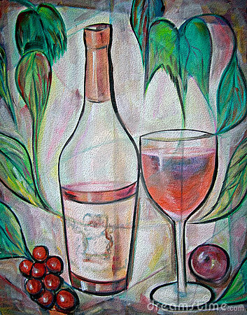 Blush Wine Stock Photos - Image: 5267363