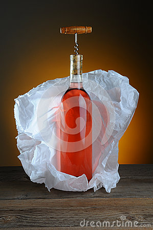 Free Blush Wine Bottle Still Life Royalty Free Stock Images - 28947209