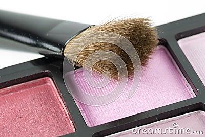 Blusher and brush