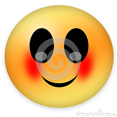 Blushing Smiley Royalty Free Stock Photography - Image ...